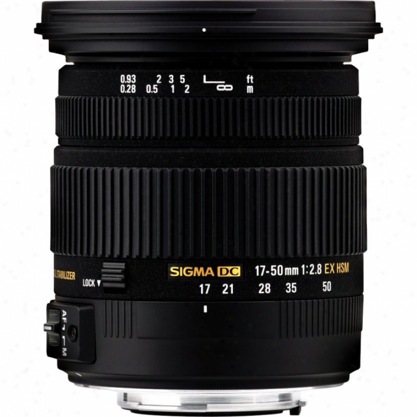 Sigma 17-50mm F/2.8 Ex Dc Os Hsm Lens For Canon Digital Slr Ca17-50f2.8