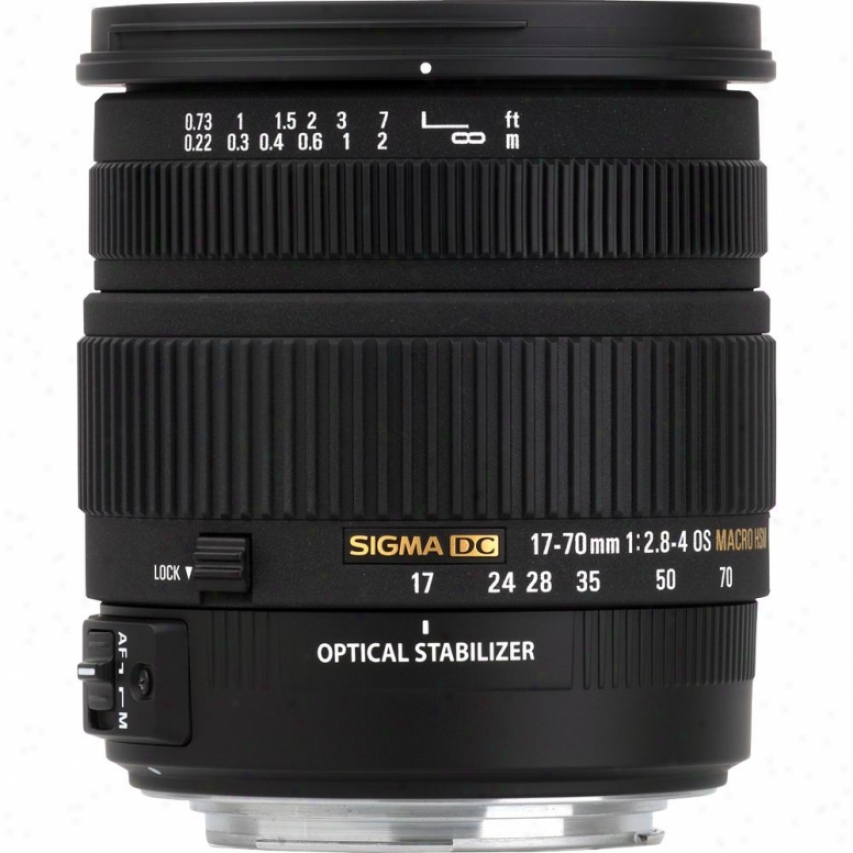 Sigja 17-70mm F/2.8-4 Dc Macro Os Hsm Lens For Nikon Digital Slr Na177-0os