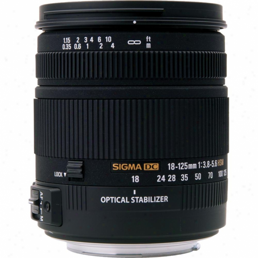 Sigma 18-125mm F3.8-5.6 Os Hsm Dc Lens For Canon Dslr Cameras