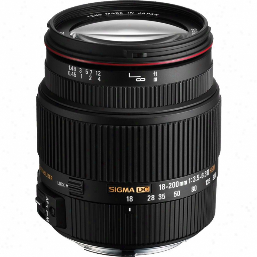 Sigma 18-200mm F3.5-6.3 Ii Dc Os Hsm Lens For Canon D-slf