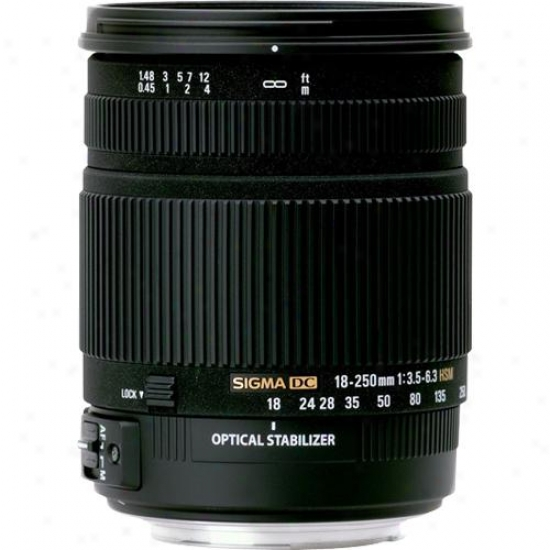 Sigma 18-250mm F/3.5-6.3 Dc Os Hsm Lens For Nikon Digital Slr Na18-250mm