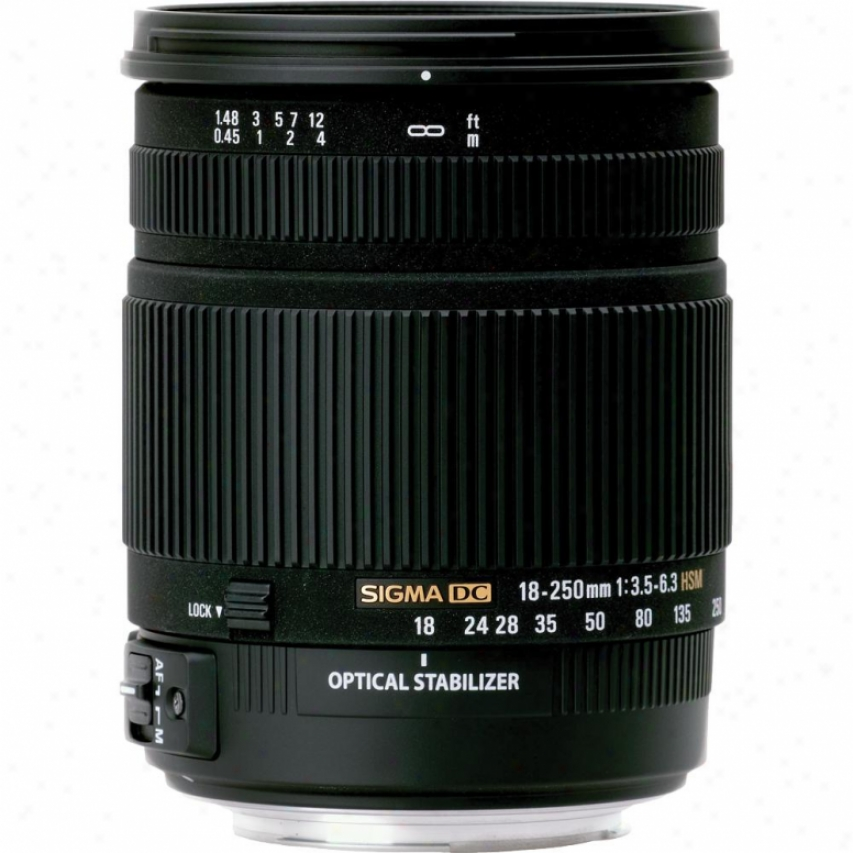 Sigma 18-250mm F3.5-6.3 Os Hsm Dc Lens For Sojy Dslr Cameras