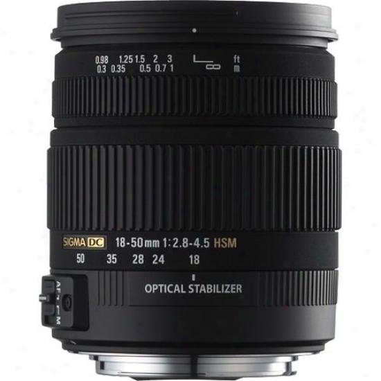 Sigma 18-50mm F/2.8-4.5 Dc Os Hsm Lens - Canon Ca18-50dcos