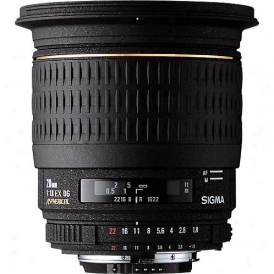 Sigma 20mm F1.8 Ex Dg Asp Rf Wide-angle Lens For Sony Dslr Cameras