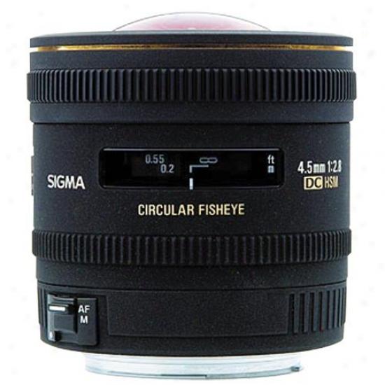 Sigma 4.5mm F/2.8 Ex Dc Circular Fisheye Hsm Canon Lens