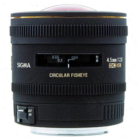 Sigma 4.5mm F/2.8 Ex Dc Round Fisheye Hsm Nikon Lens