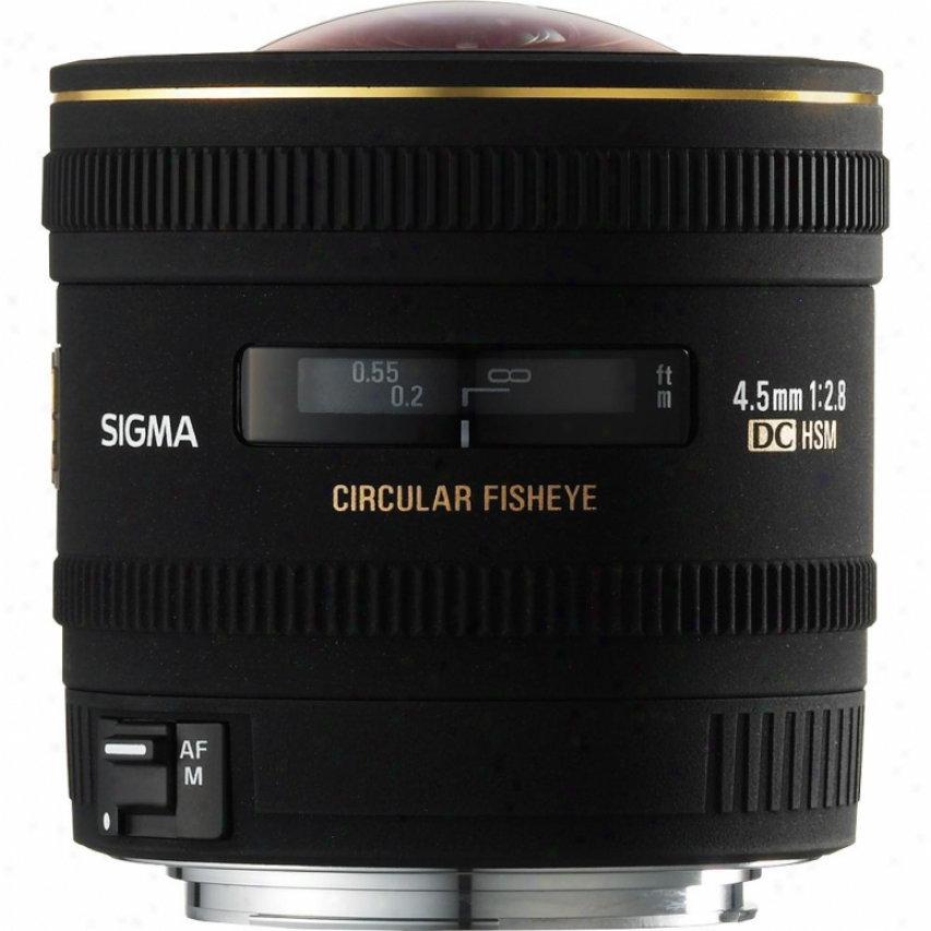 Sigma 4.5mm F2.8 Ex Dg Hsm Circular Fisheye Lens For Sony Dslr Cameras