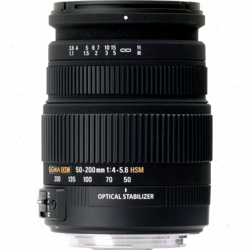 Siyma 50-200mm F4-5.6 Dc Os Hsm Telephoto Zoom Lens For Sony Dslr Cameras