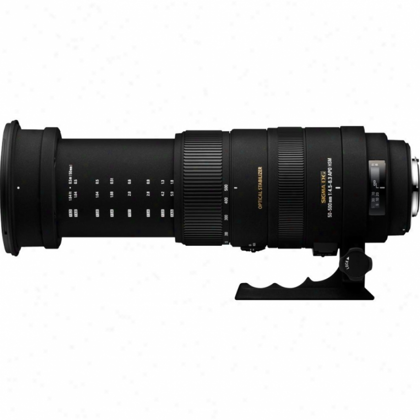 Sigma 50-500mm F4.5-6.3 Apo Dg Os Hsm Telephoto Zoom Lens For Sony Dslr Cameras