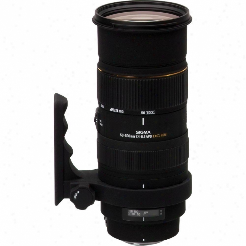 Sigma 50-500m F/4.5-6.3 Dg Os Hsm Lens For Canon Digital Slr Ca50-500mm