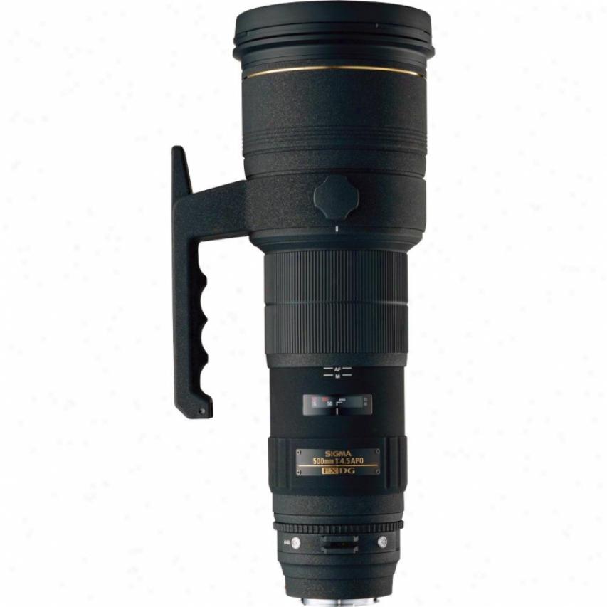 Sigma 500mm F4.5 Ex Dg Apo Hsm Super Telephoto Lens For Son Dsslr Cameras