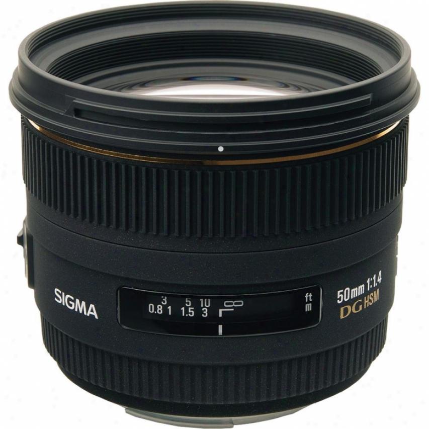 Sigma 50mm F1.4 Ex Dg Hsm Standard Prime Lens For Sony Dslr Cameras