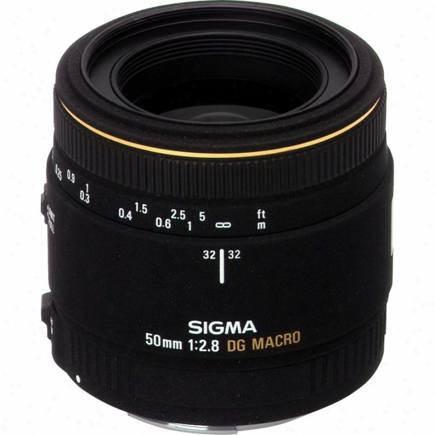 Sigma 50mm F/2.8 Ex Macro 1:1 Lens For Nikon D-mount Slr