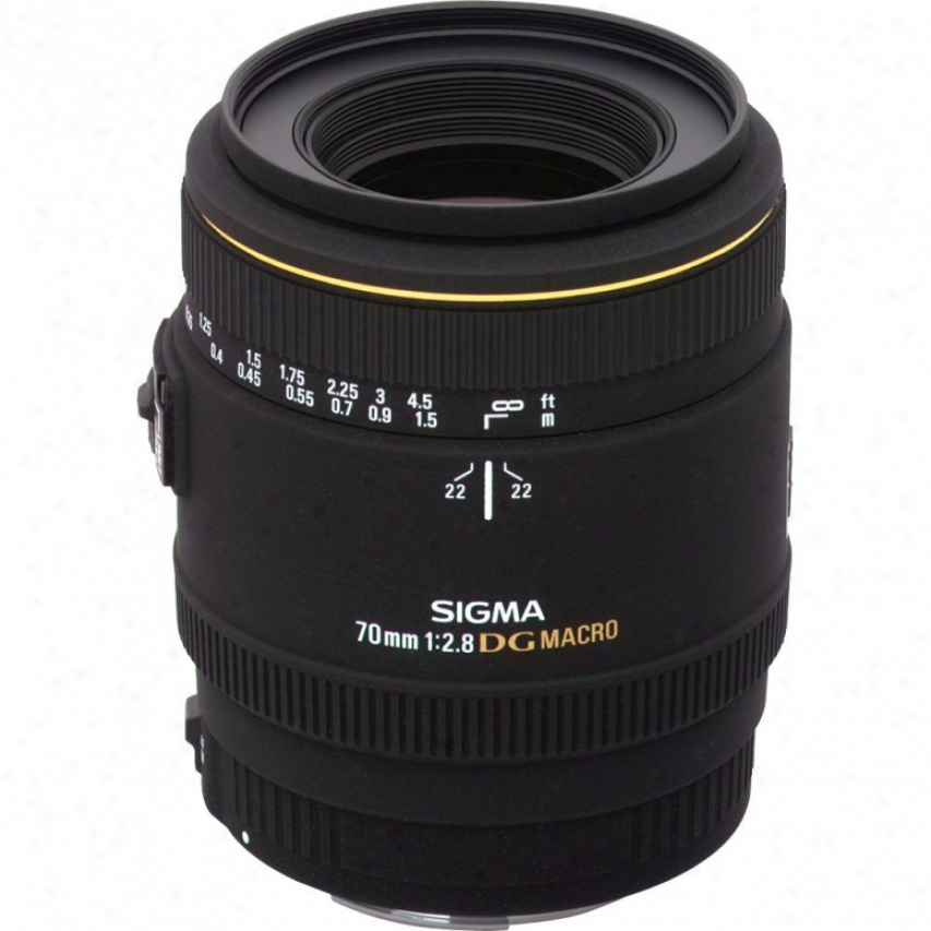 Sigma 70mm F2.8 Ex Dg Macro Lens For Nikon Dslr Cameras