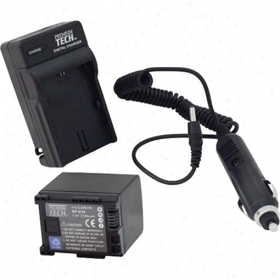Solutions Canon Bp-809/bp-819/bp-827 Battery Charger For Home & Car