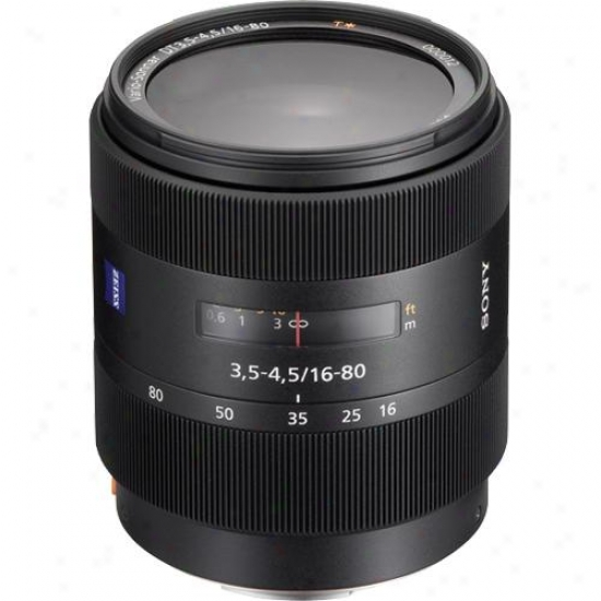 Sony 16-80mm F/3.5-4.5 Carl Zeiss Vario-sonnar T Dt® Zoom Lens - Sal-1680z