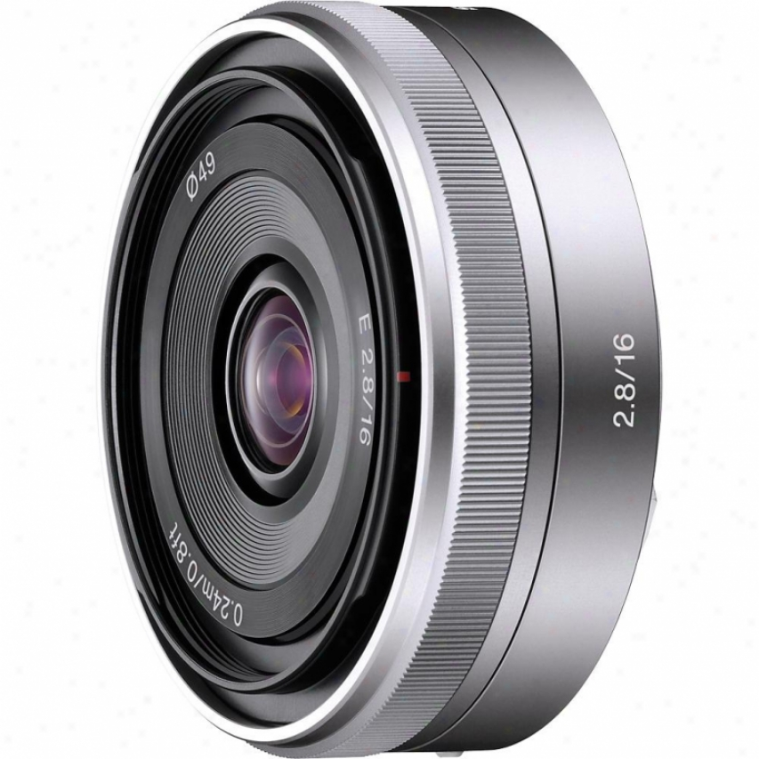 Sony 16mm F/2.8 E-mount Wide-angle Nex Series Lens - Sel-16f28