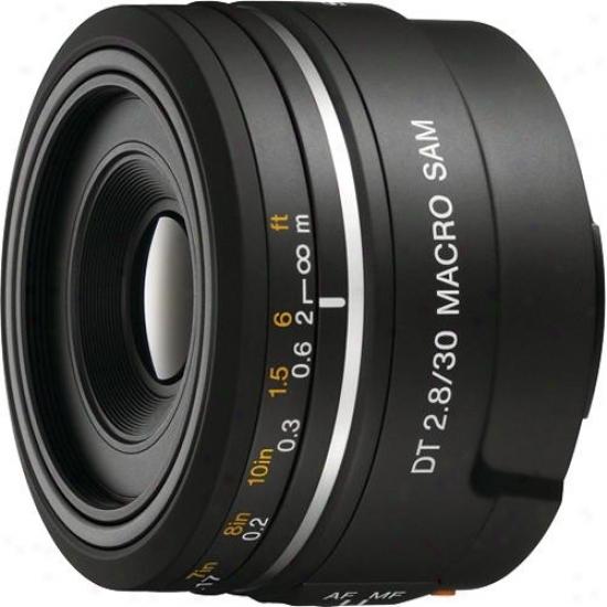 Sony 30mm F/2.8 Dt® Sam Macro Lens - Sal30m28