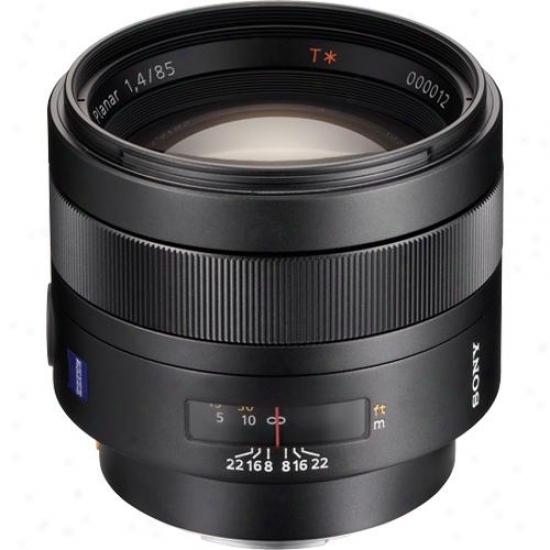 Sony 85mm F/1.4 - Carl Zeiss Planar T Telephoto Lens Sal-85f14z