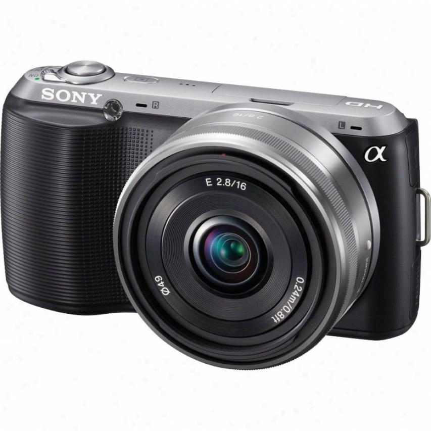 Somy Alpha Nex-c3a/b 16 Megapixel Imterchangeable Lens Digital Camera - Black