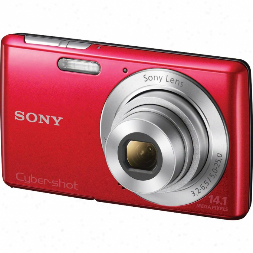 Sony Cyber-shot® Dsc-w620/r 14 Megapixel Digital Camera - Red