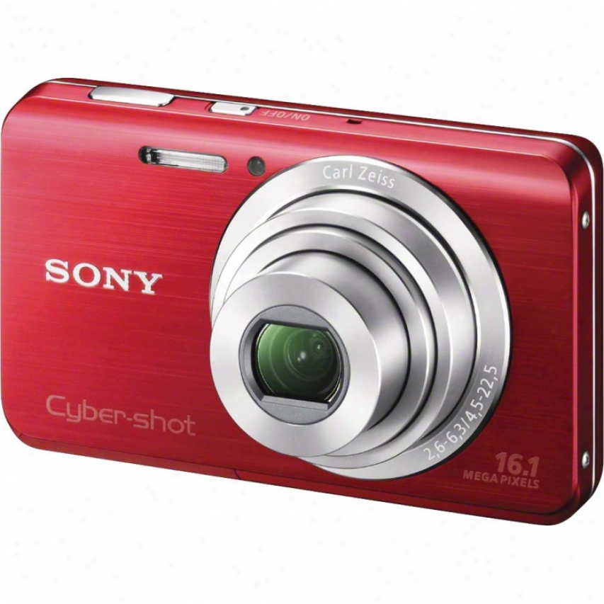 Sony Cyber-shot® Dsc-w650/r 16 Megapixel Digital Camera - Red