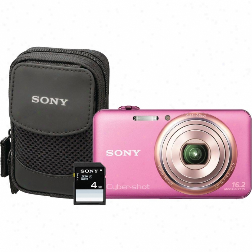 Sony Cyber-shot® Dsc-wx70 1 6Megapixel Digital Camera Bundle - Pink