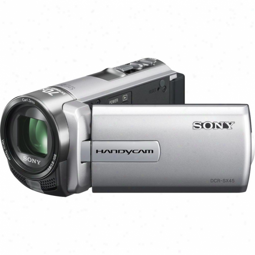 Sony Dcr-sx45/s Compact Handycam® Camcorder - Silver
