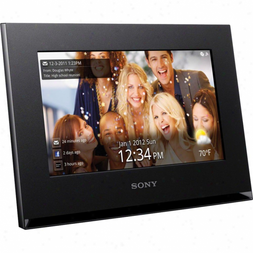 "Sony Dpf-wa700 7"" Digital Photo Construct With Wifi - Black"