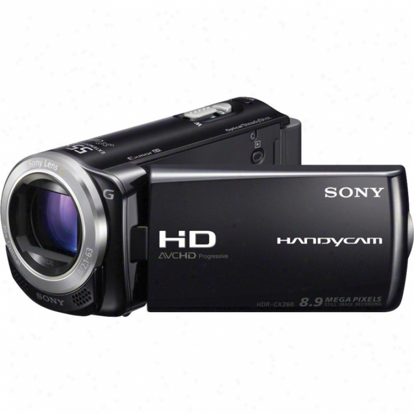 Sony Hdr-cx260v/b Full Hd 16gb Flash Memory Camcorder - Black