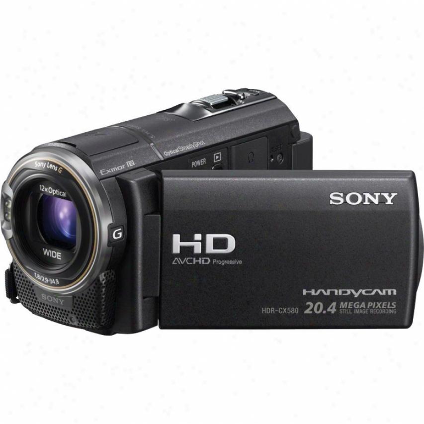 Sony Hdr-cx580v Full Hd 32gb Flash Memory Camcorder - Black