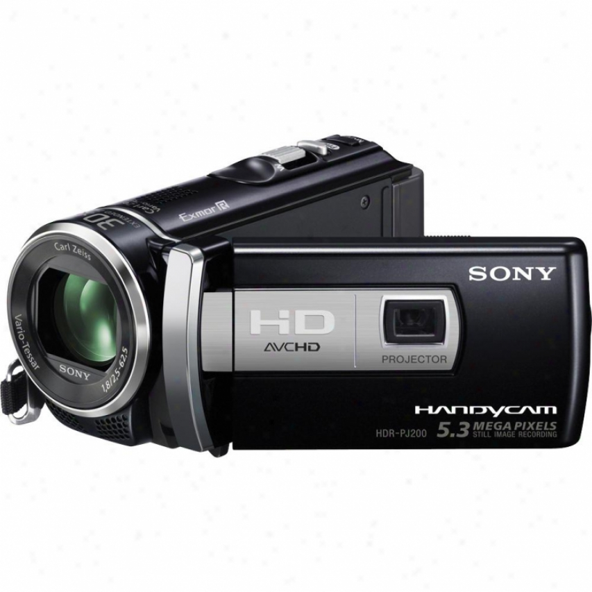 Sony Hdr-pj200/b Full Hd Camcorder With Projector - Black