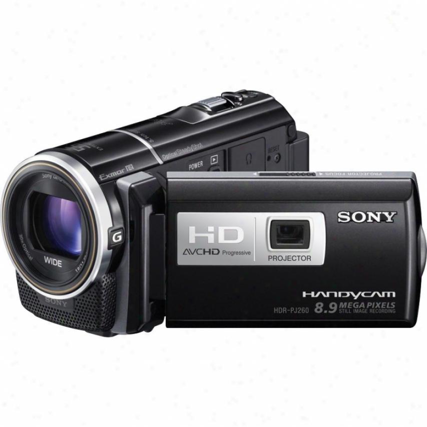 Sony Hdr-pj260v 16gb Full Hd Camcorder With Schemer - Black