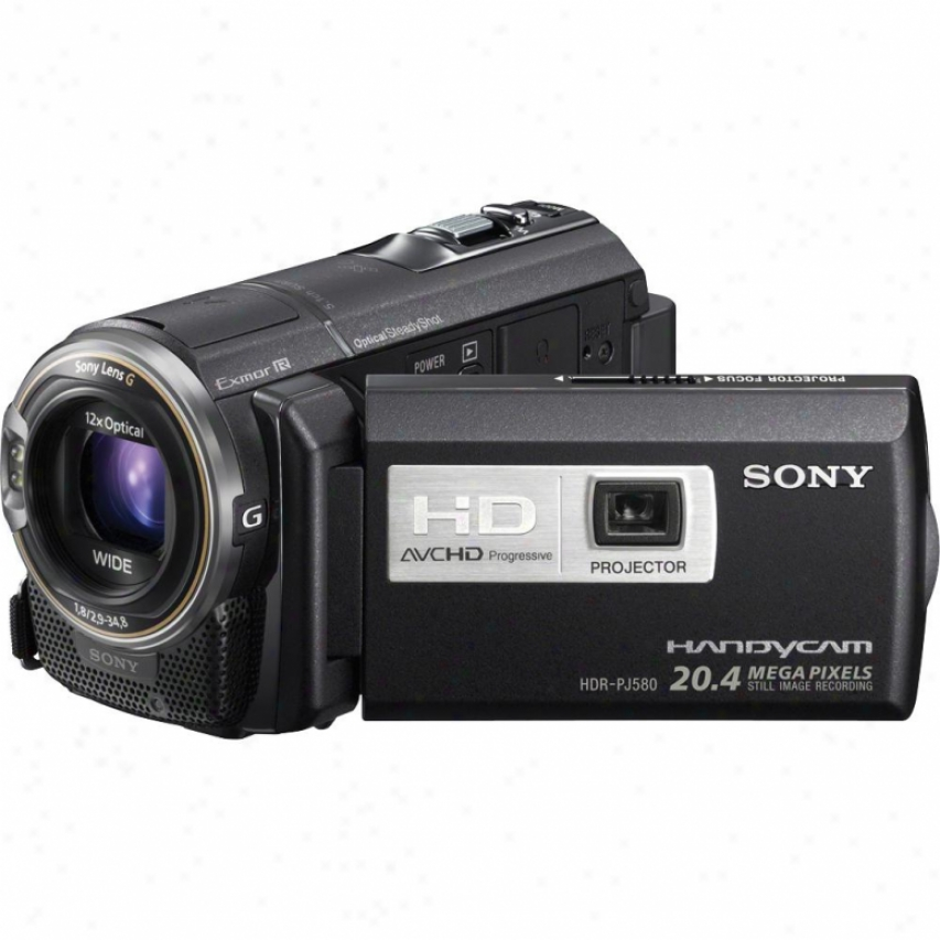 Sony Hdr-pj580v 32gb Abounding Hd Camcprder With Projector - Black