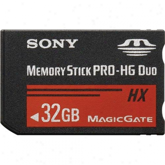 Sony Mshx32b 32gb High Speed Memory Stick® Pro-hg Duo Media