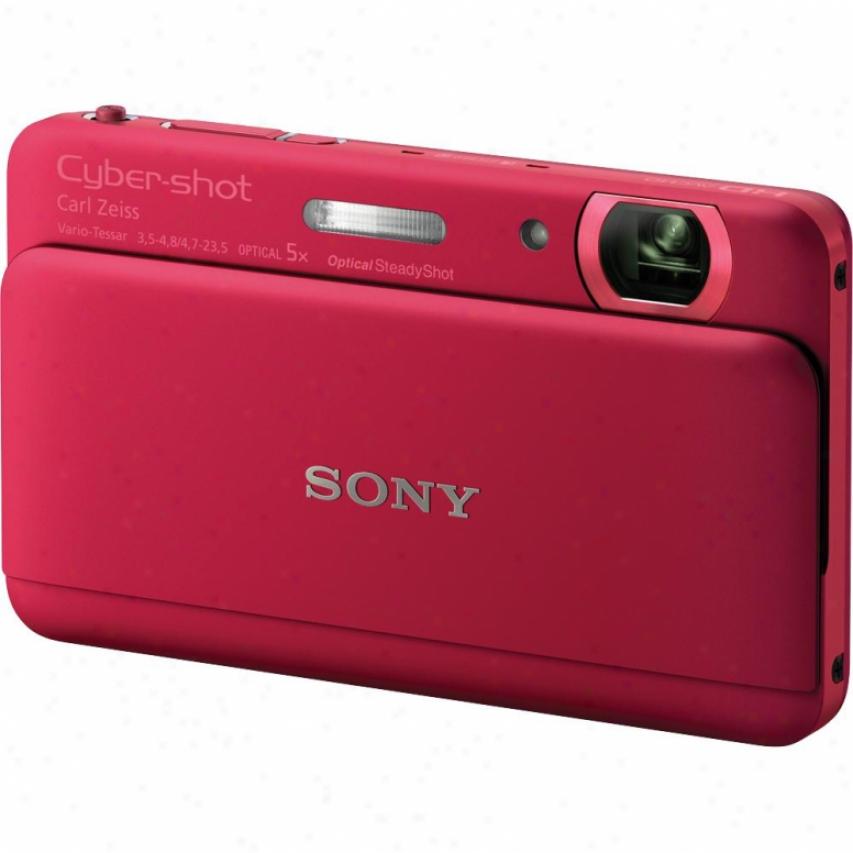 Sony Open Box Cyber-shor® Dsc-tx55 16 Megapixel Digital Camera - Red