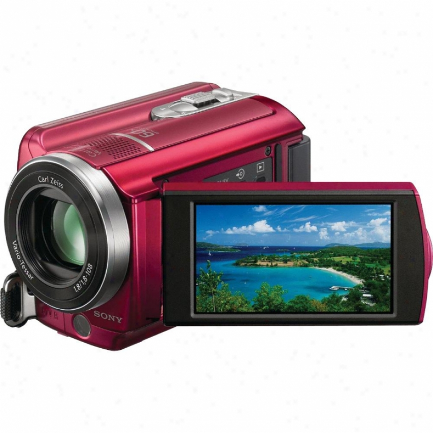 Sony Open Box Dcr-sr68 Handycam® Camcorder - Red