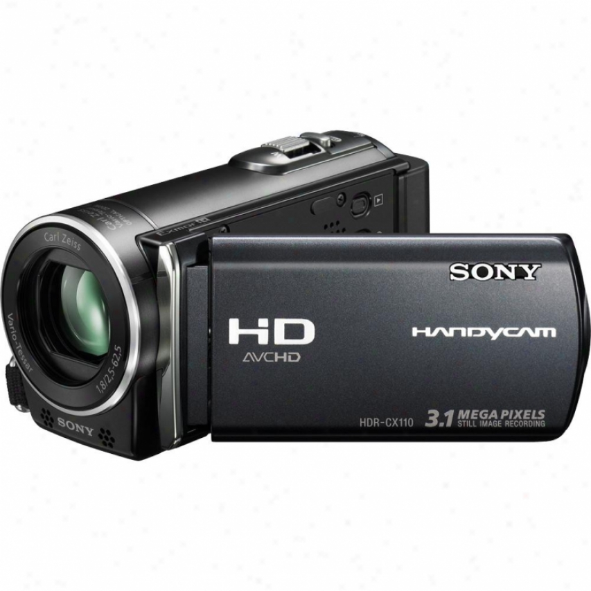Sony Open Box Hdr-cx110e Hd Handycam® Pal Camcorder - Black