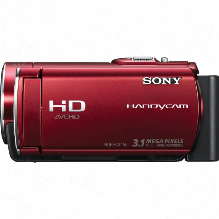 Sony Open Box Hdr-cx1500/r 16gb High Definition Handycam® Camcorder - Red