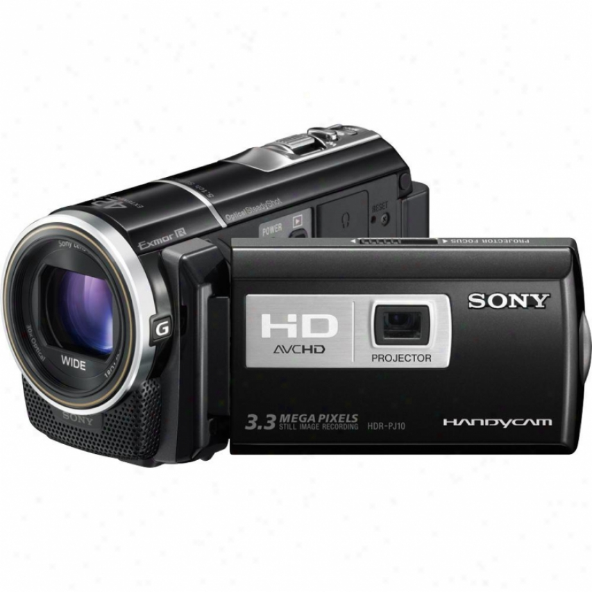 Sony Open Box Hdr-pj10 16gb Loud Hd Camcorder With Projector
