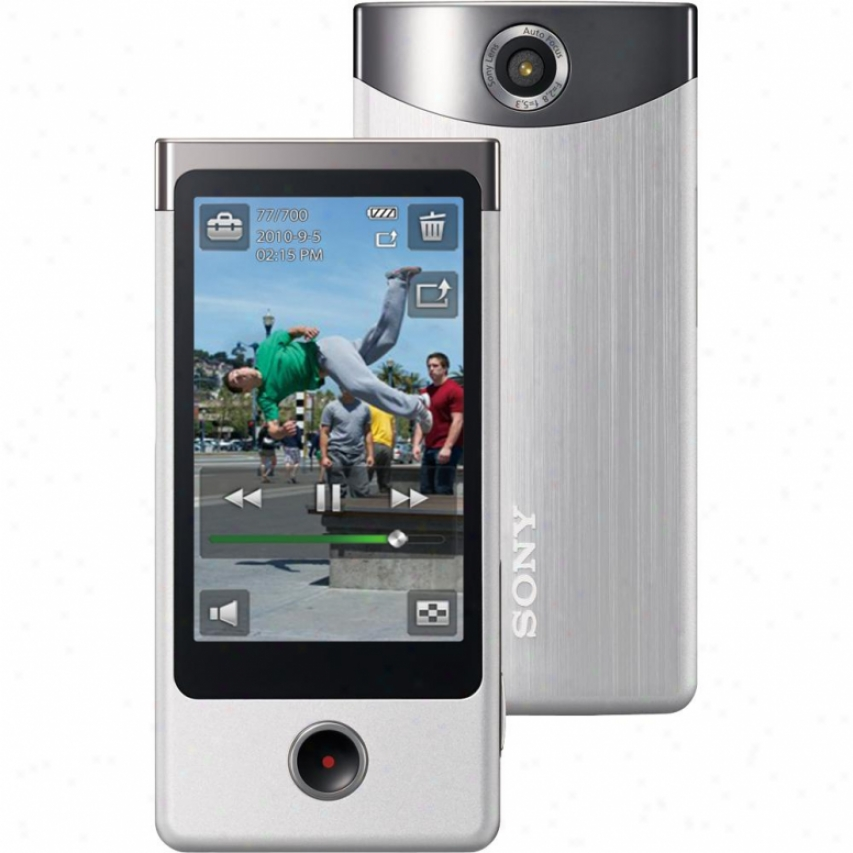 Sony Open Box Mbs-ts10/s 4gb Bloggie Touch Hd Camera - Silver