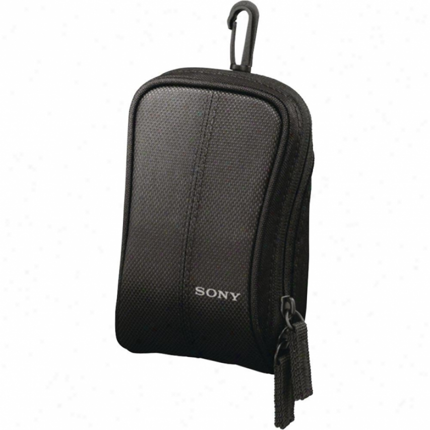 Sony Soft Carryingg Case For Cybwr-shot/bloggie Camera - Black - Lcs-csw/b