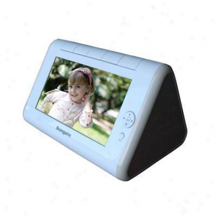 "Sungale Clock Radio W 7"" Digital Photo"