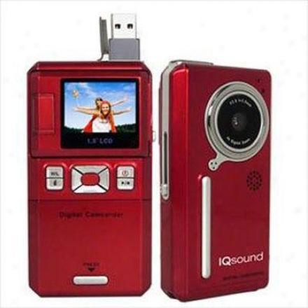 Supersonic 3mpx Digital Camcorder Red