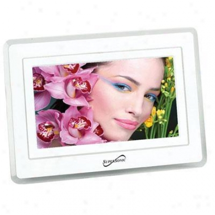 Supersoinc Sc-7001 7-inch Dihital Photo Frame W/ Usb & Sd Inputs