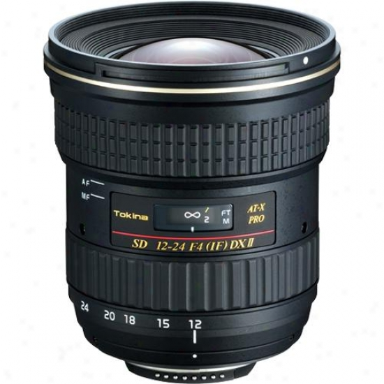Tokina 12-24mm F/4 Af Pro Dx Ii Wide-angle Lens For Nikno - Atx124dxiun