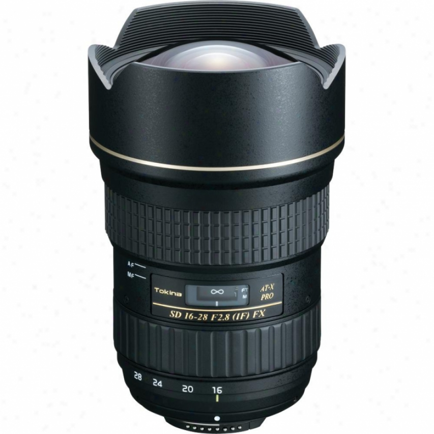 Tokina 16-28mm F/2.8 At-x Pro Fx Super-wide Angle Lens For Canon