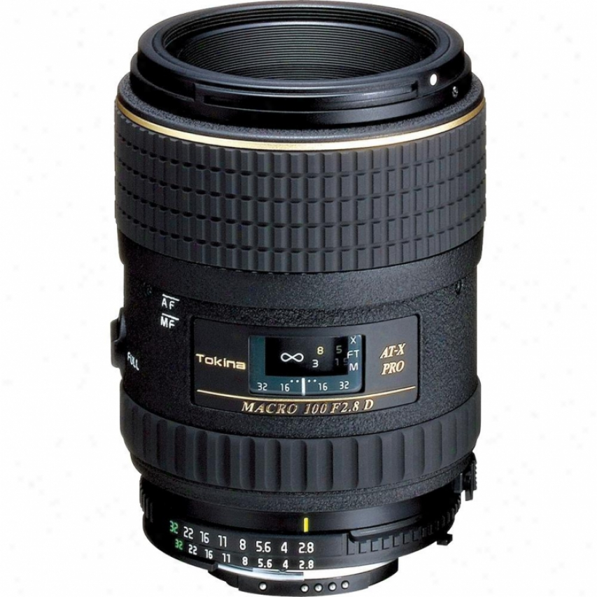 Tokina At-x 100mm F/2.8 Pro D Madro Lens For Canon Eos Atx100mdc