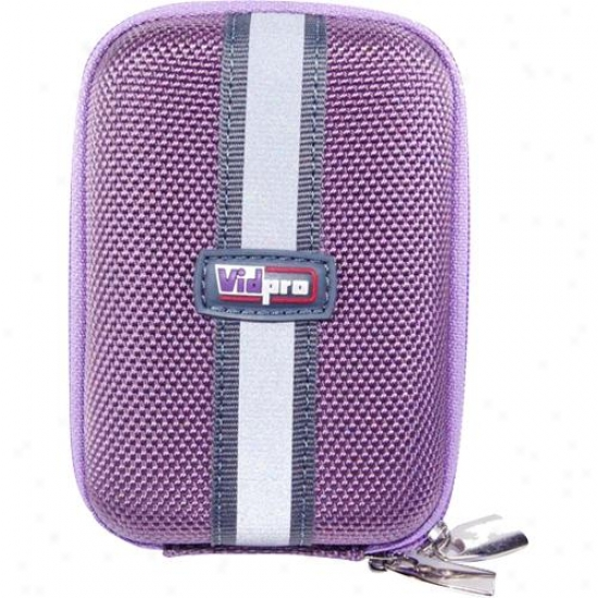 Vidpro Act-10pu Purple Camera Case Wi5h Belt Link & Shoullder Strop