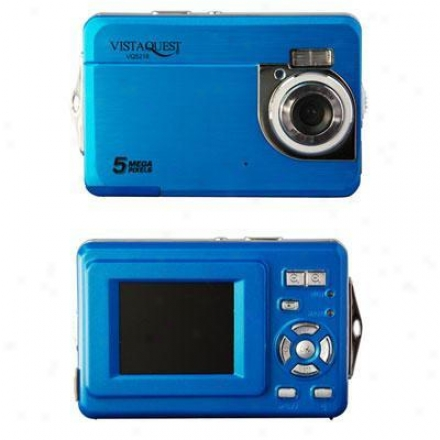 "Vistaquest 5 Megapixel With 1.8"" Lcd - Blue - Vq5218"